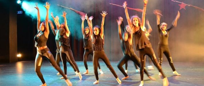 Dansen op een muziekschool